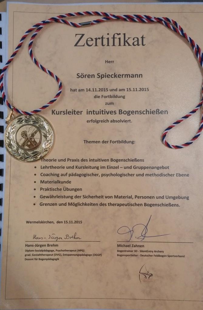 Zertifikat Kursleiter