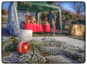 Besuch Weihnachtsflohmarkt Bogenparcours Hohenlohe