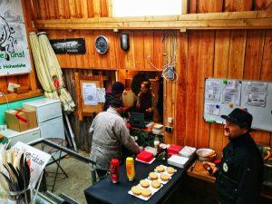 Essen auf dem Weihnachtsflohmarkt 2017 / Traditioneller Bogenparcours Hohenlohe
