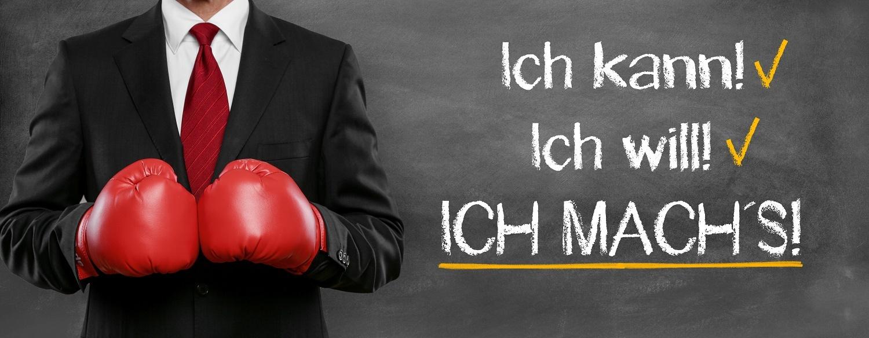 """Spruch """"Ich will / Ich kann / Ich mach´s!"""""""