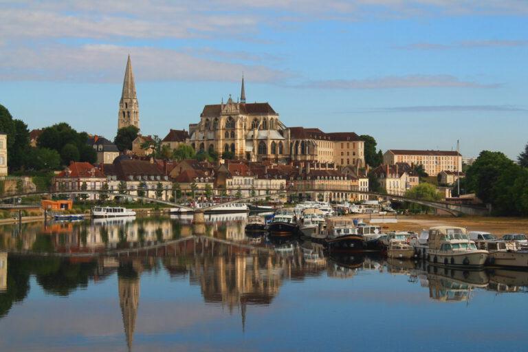 Stadtansicht in Frankreich