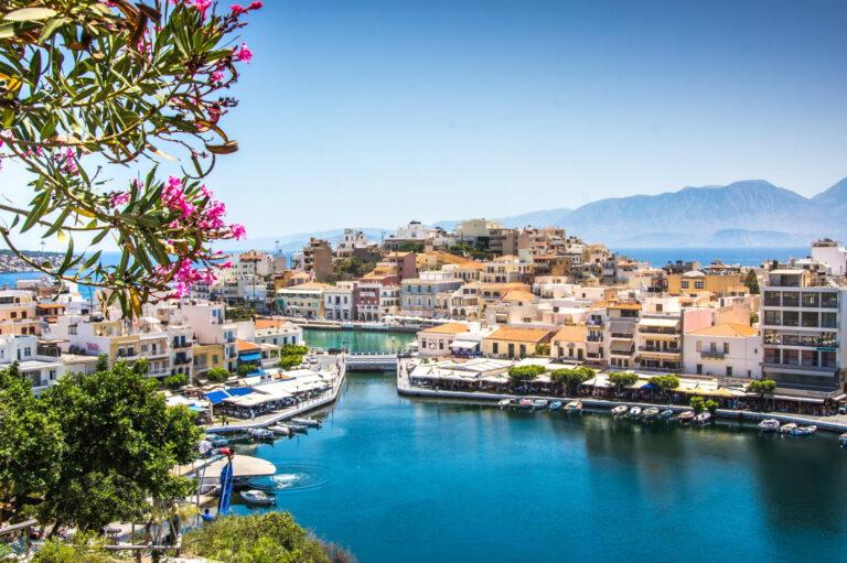 Stadt auf Kreta in Griechenland
