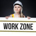 Schild Work Zone