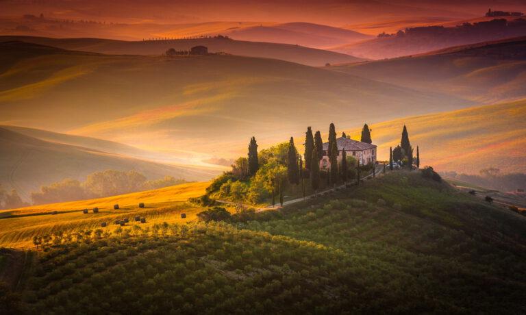 Landschaftsbild von der Toskana