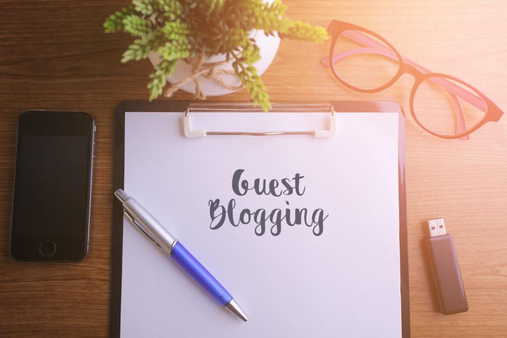 Guest Blogging mit Papier und Stift